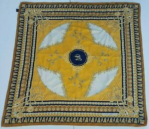 Foulard-carre-scarf-Pierre-Balmain-Paris-100-silk-pura-seta-original-made-italy