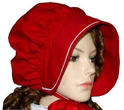 Womens Cotton MOP Hat Costume Bonnet Cap White with Lace Renaissance Christmas