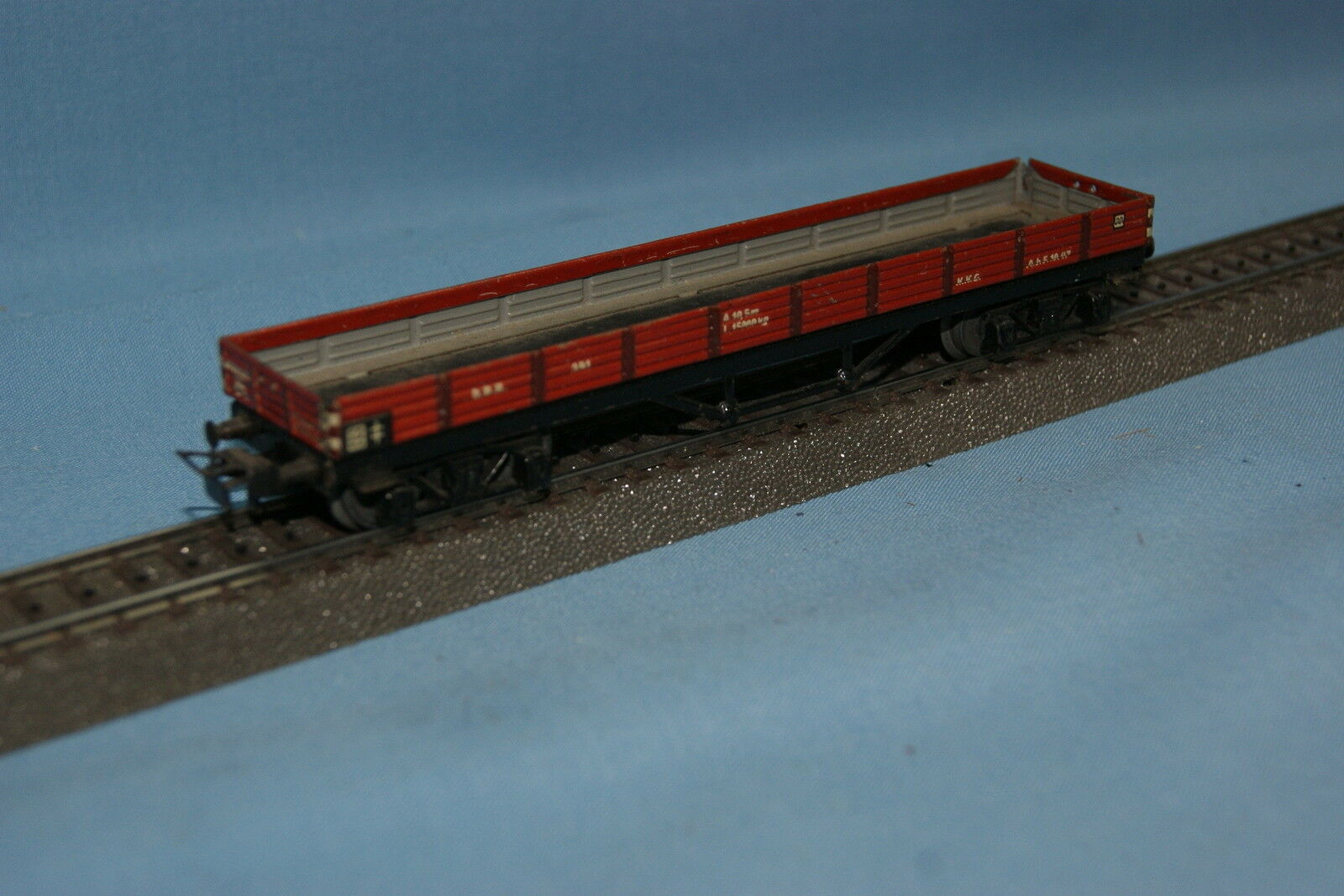 Marklin 391 Four Axled Open Flat car Tin Plate 1950
