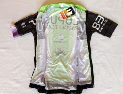 New 2016 Men/'s Biemme Lupus Cycling SS Madison 2 Jersey size XS Black//Green