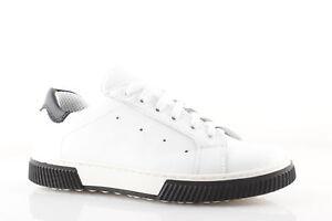 Sneakers uomo bianche e nere basse vera pelle scarpe ITALIANE casual ... f38b88d3903
