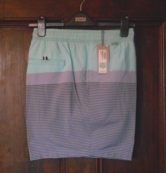 """* M & S * Swim Pantaloni Corti Taglia Xlarge Vita 39-41"""" Nuovo Con Etichetta Quick Dry Rrp £ 19.50 Rinfresco"""