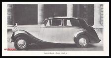 Publicité  ROLLS ROYCE Silver Wraith Automobile car photo vintage  ad  1946 - 2h
