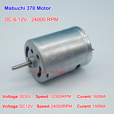 DC 3V-6V 7700RPM Mini RS-380 Carbon Brush DC Motor DIY Tools Toy Car Boat Model