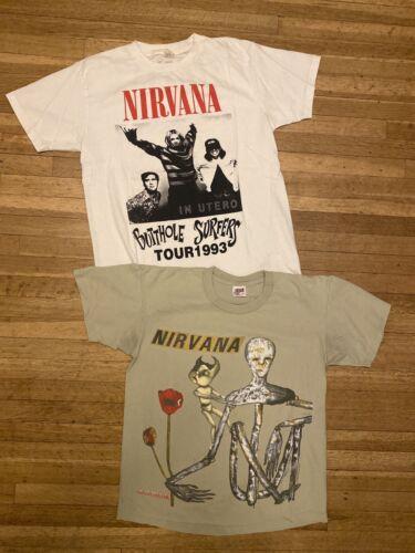 Vintage Nirvana T Shirt Lot Of 2 Large Incesticide