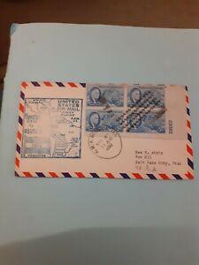COVER USA 1ST FLIGHT AIR MAIL HOUSTON ASUNCION 1950