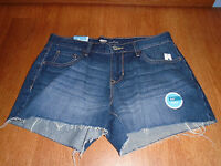 Womens Size 8 Old Navy Dark Blue Denim Jean Shorts Cut Off Casual Cotton