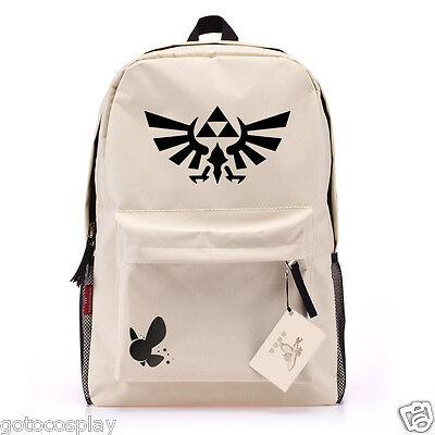 The Legend of Zelda Skyward Link Triforce Canvas Backpack Shoulder Bag Schoolbag