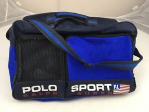 0062c5e588b0 Vtg 90s Polo Sport Ralph Lauren Travel Duffel Strap Gym Bag Spell ...