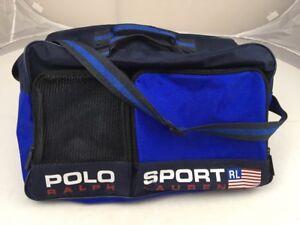 8cfebb1d6a Vtg 90s Polo Sport Ralph Lauren Travel Duffel Strap Gym Bag Spell ...