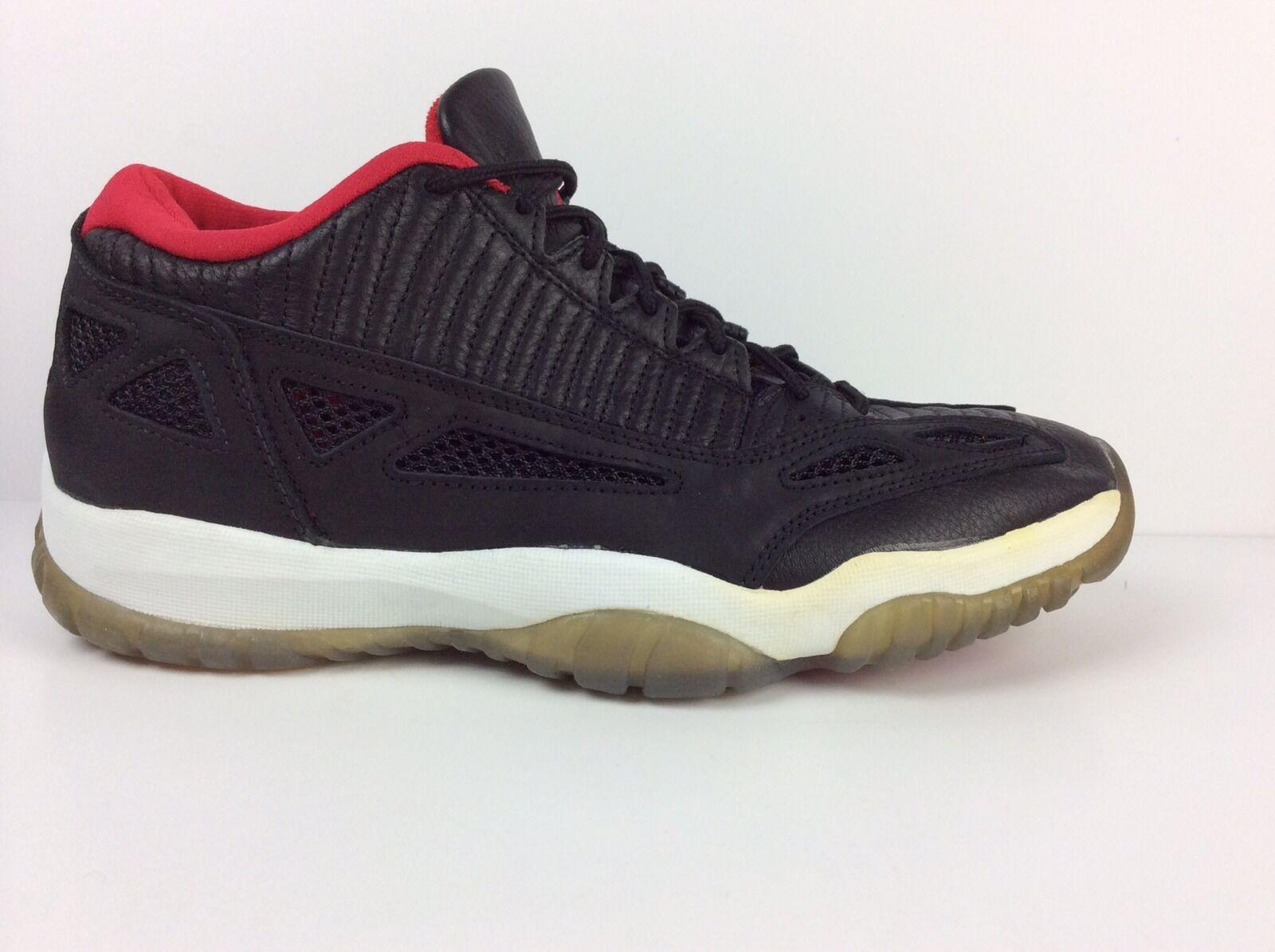 Nike air jordan xi 11 bassa og nero / grigio scuro vero red 130270-001 sz