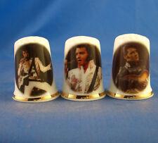 Birchcroft Thimbles -- Set of Three -- Elvis Presley in Concert