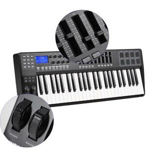 panda49 49 key usb midi keyboard controller 8 drum pads with usb cable i7c3 ebay. Black Bedroom Furniture Sets. Home Design Ideas