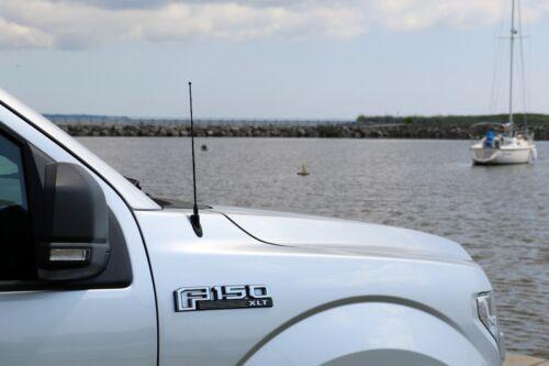 "12/"" Black Spring Stainless AM//FM Antenna Mast Fits 2006-2019 GMC Sierra 2500"