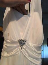 Davids Bridal NEW Ivory Dress With Beautiful Embellishment 3x