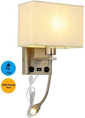Plug In Cord Liylan Bedside Wall Mount