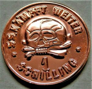 GERMAN-WW2-COLLECTORS-COPPER-COIN-SS-1-SCHILLING-KANTINEGELD