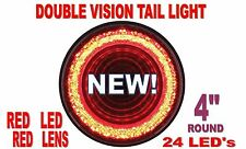"24 LED 4"" ""MIRAGE"" STOP, TURN & TAIL LIGHT - RED LED/RED LENS"