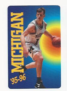 Details About 1995 96 Michigan Wolverines Original College Basketball Schedule