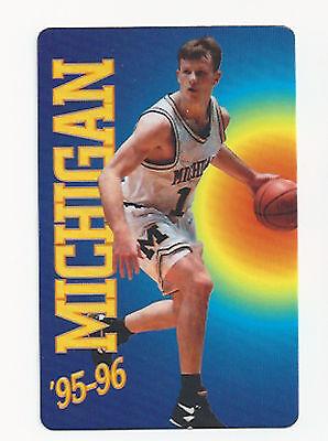 1995 96 Michigan Wolverines Original College Basketball Schedule Ebay