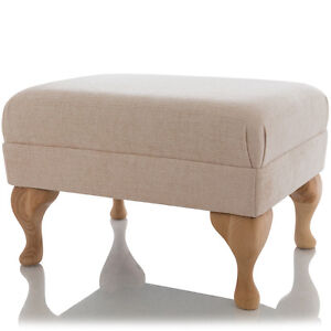 New Footstool Queen Anne Ottoman Foot Rest Small Large