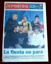 BOCA JUNIORS vs SANTOS LIBERTADORES CUP 2003  NEWSPAPER