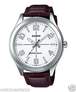 Casio MTP-VX01L-7B Men's Standard Leather Band Big Case Black Dial Watch