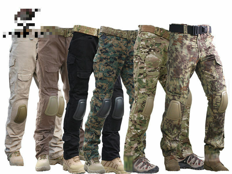 Tactical Pants with  Knee Pads,  Gen2 Camping Hiking Hunting Trousers CP  deals sale