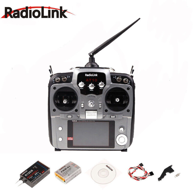 RadioLink 2.4G AT10II 12CH RC Transmitter remote control with R12DS Receiver