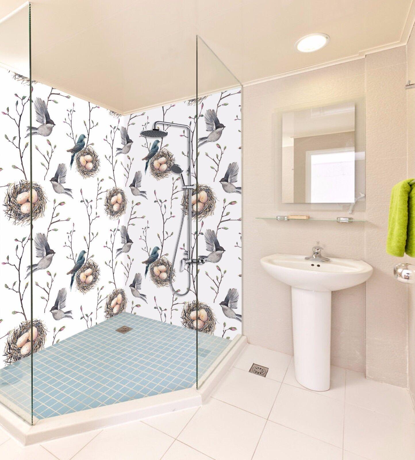 3D Tree Bird 693 WallPaper Bathroom Print Decal Wall Deco AJ WALLPAPER AU