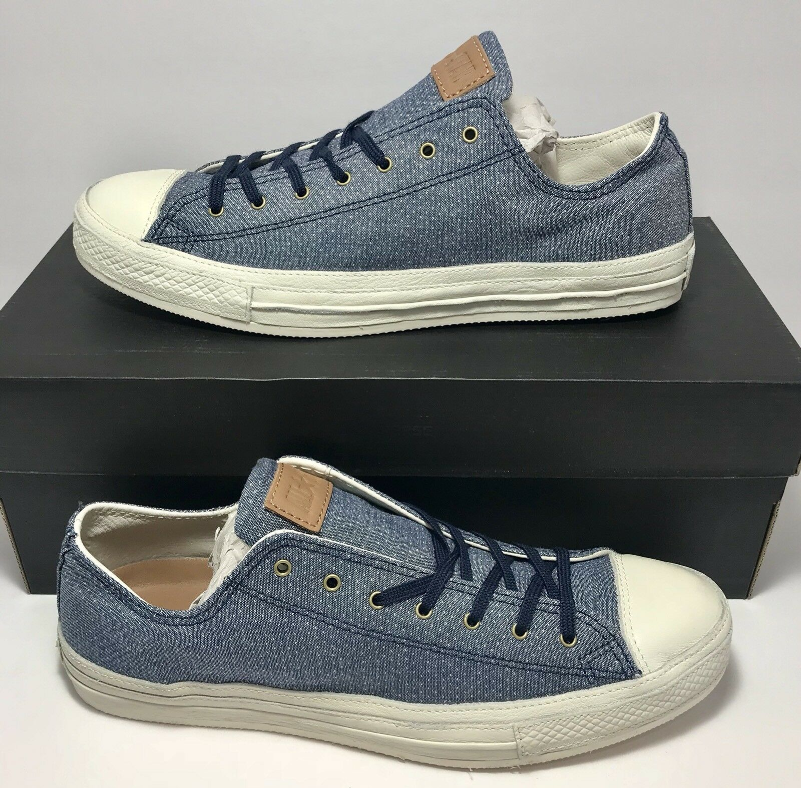 125 Converse Mens Size 10 Vegan Collectors CT Post OX Blue Shoes Sneakers New