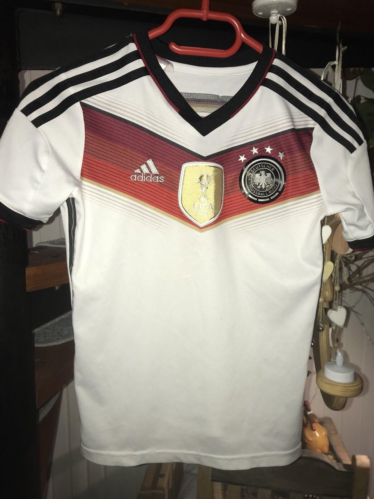 DFB Deutschland Arndt Trikot WM 2014 4 Sterne Adidas Heimtrikot Größe 140  | Authentische Garantie