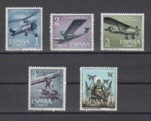 ESPANA-1961-NUEVOS-SIN-FIJASELLOS-MNH-SPAIN-EDIFIL-1401-05-AVIACION