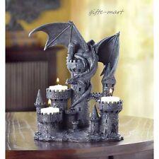 medieval Dragon statue Gothic castle throne Candle holder tea-light CANDELABRA