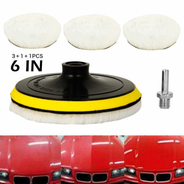 5/'/' Wool Wheel Buffing Polishing Pads Car Polisher Drill Wool Wheel Mop Kit 5Pcs