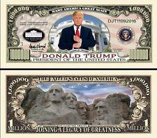 DONALD TRUMP - BILLET MILLION DOLLAR US ! Collection President USA Milliardaire