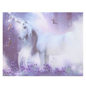 Purple-Magic-Unicorn-Modern-Canvas-Print-Art-Painting-Picture-Home-Wall-Decor