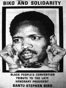 PROPAGANDA POLITICAL STEVE BIKO ANC APARTHEID SOUTH AFRICA POSTER PRINT BB2673B