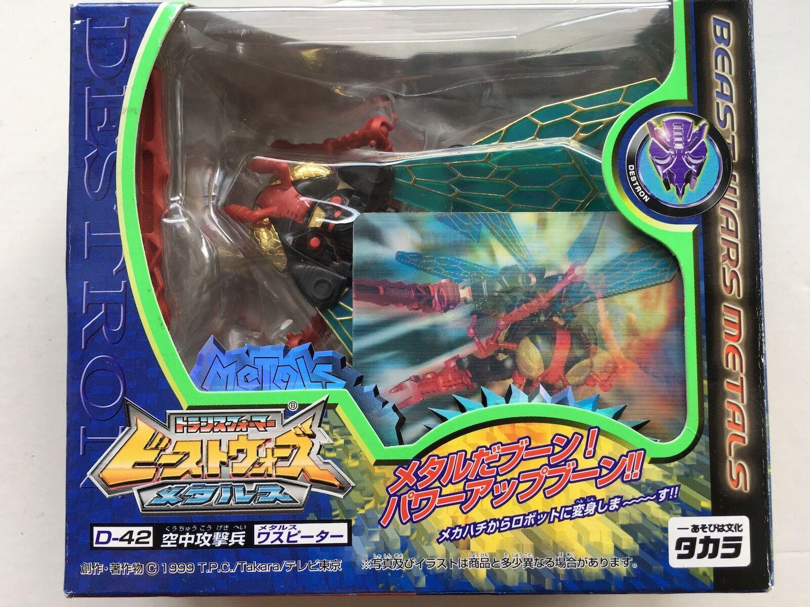 Japan Rare Transformers Beast Wars Metals D-42 Metals Waspinator Action Figure