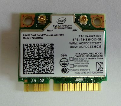 Intel 7260  802.11ac Bluetooth 4.0 - WiFi for HP Elite book 2740P  867Mbps