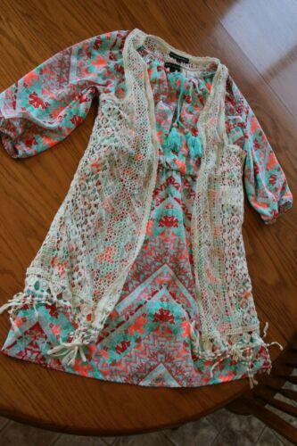 My Michelle Ragazze Estate Vestito Con Scialle Taglia 12