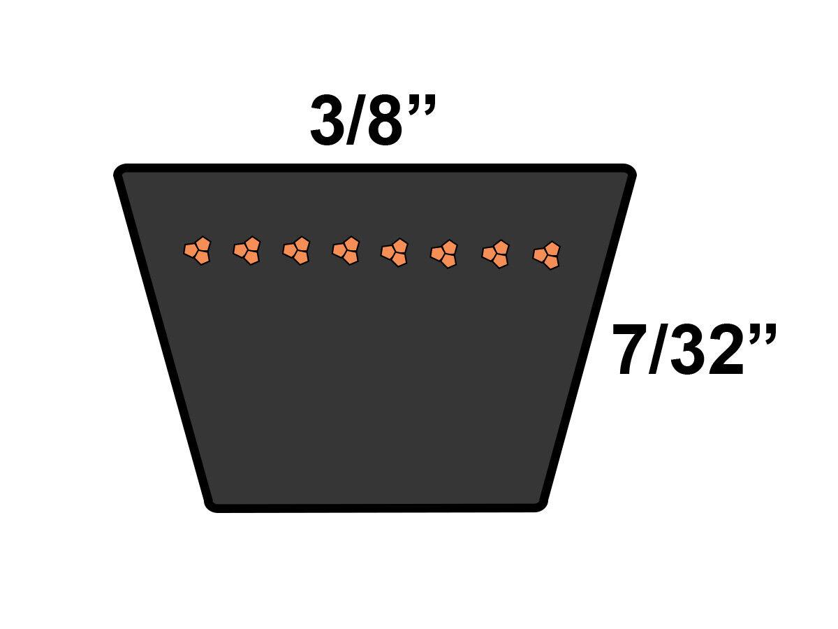 D/&D PowerDrive 3L280 V Belt Rubber 3L 3//8 x 28 OC