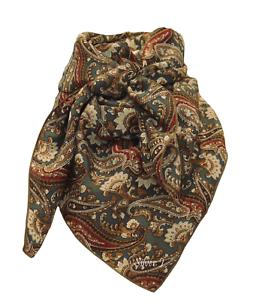 Wild Rag Paisley 100/% Real Silk Scarf