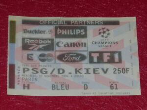 COLLECTION-SPORT-FOOTBALL-TICKET-PSG-D-KIEV-2-NOVEMB-1994-Champion-039-s-League