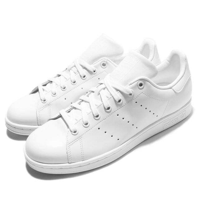 adidas Originals Stan Smith Triple White Monochrome Men Shoes Sneakers  S75104 e9166946d