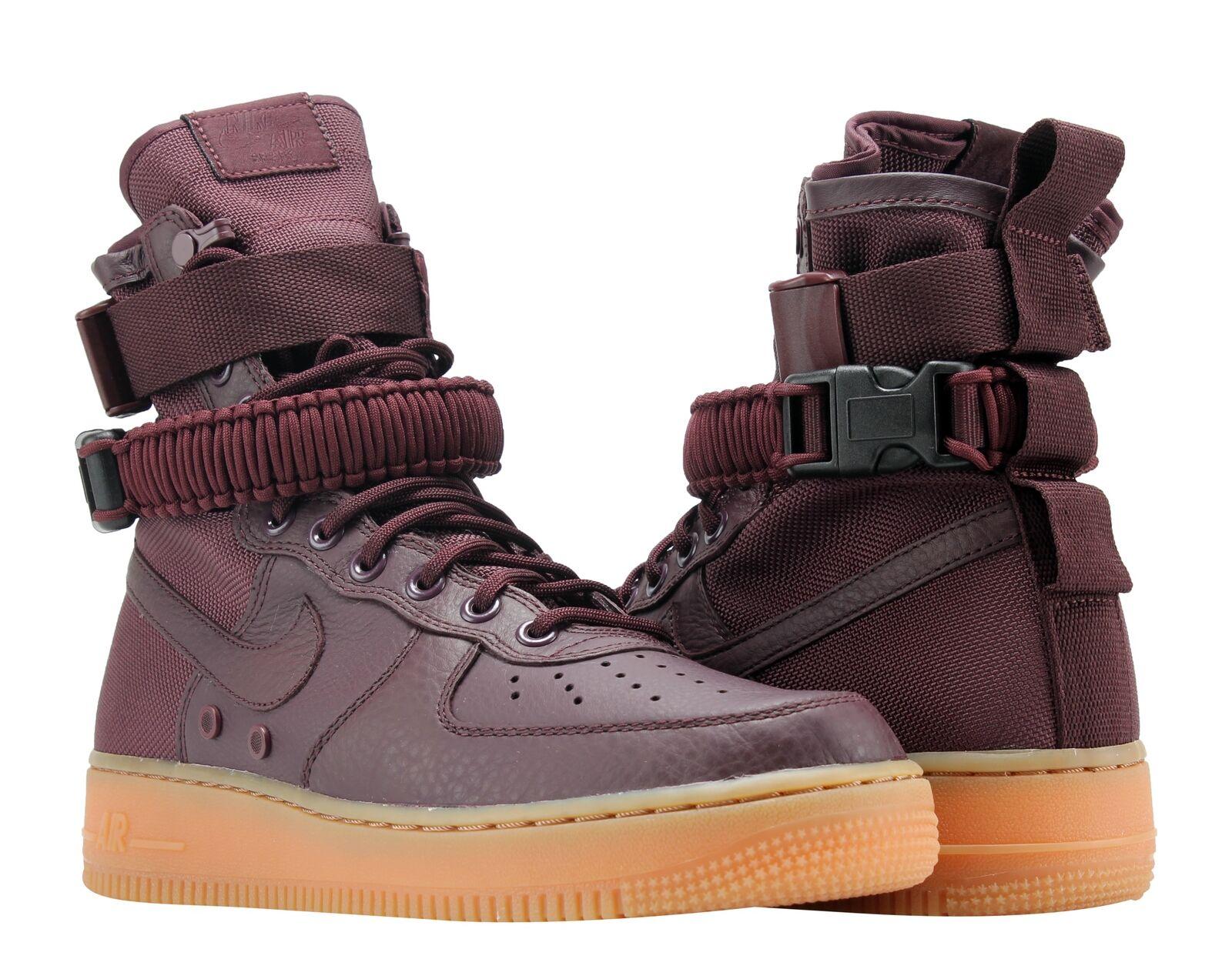 Nike SF AF1 Air Force 1 Special Forces Deep Burgundy/Gum Men's Shoes 864024-600
