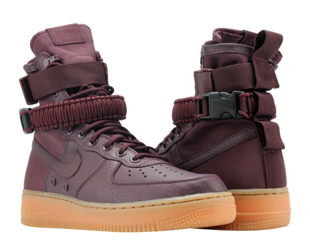 5d528209ad Nike SF AF1 Air Force 1 Special Forces Deep Burgundy/Gum Men's Shoes 864024-