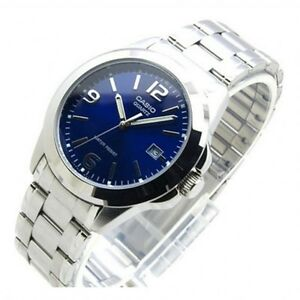 CASIO-MENS-MTP1215A-2A-STAINLESS-STEEL-ANALOG-CASUAL-DRESS-QUARTZ-DATE-WATCH-NEW