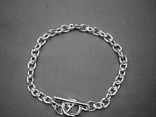 Brand ..New...Silver..Plated..T-BAR BRACELET