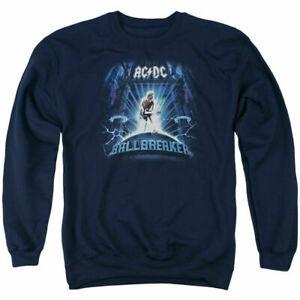 AC//DC Ballbreaker Adult Crewneck Sweatshirt Navy